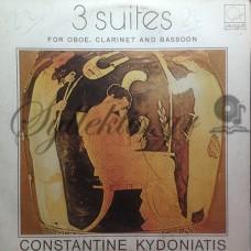 Κυδωνιάτης Κωνσταντίνος - 3 Σουίτες Για Όμποε, Κλαρινέτο Και Φαγκότο